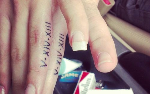 A Great Tattoo Idea For Husband And Wife Wedding Anniversary
