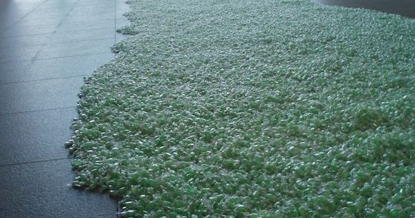 Edible Art: Green candy installation at the Fort Worth Modern Art Museum.