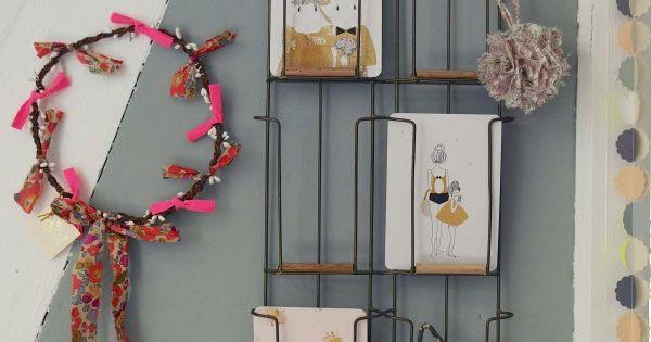 porte carte mural instant c leste la boutique. Black Bedroom Furniture Sets. Home Design Ideas