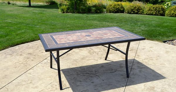 Backyard Creations Lasalle Rectangular Dining Patio Table At Menards Backyard Creations Reg Lasalle Rectangul Patio Table Backyard Creations Outdoor Tables