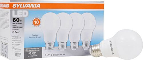 Discounted Philips Led Non Dimmable A19 Frosted Light Bulb 1500 Lumen 5000 Kelvin 14 Watt 100 Watt Equivalent E26 Led Light Bulb Sylvania Led Led Lights