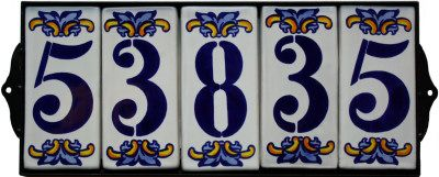 Wrought Iron House Number Frame Villa 5 Close Up House Numbers Diy Iron House Numbers Rustic Diy Projects