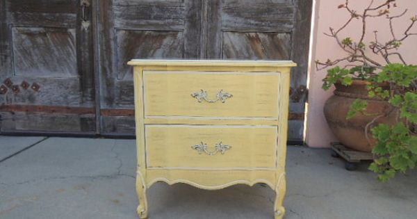 French Provincial Henry Link Nightstand In Antique Yellow