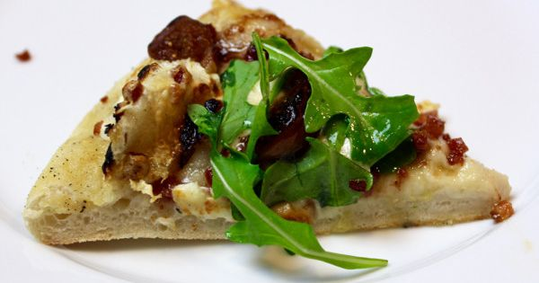 Fig Pancetta Goat Cheese Pizza with Arugula | Recipe | Goat Cheese ...