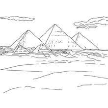Pyramids Of Giza To Color In For Kids Coloring Page Countries