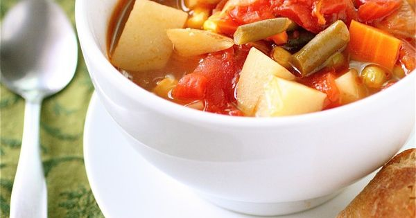 Vegetable soup - I'm going to put this in the crock pot.