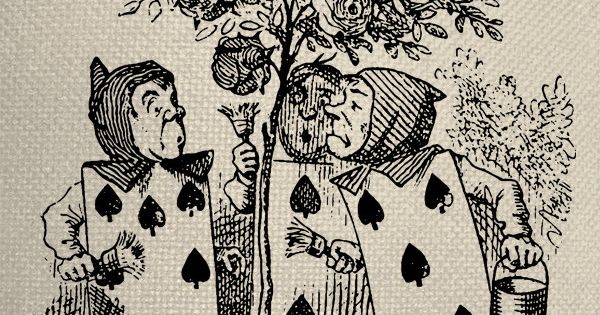 Spade The Playing Cards Alice In Wonderland Alice In