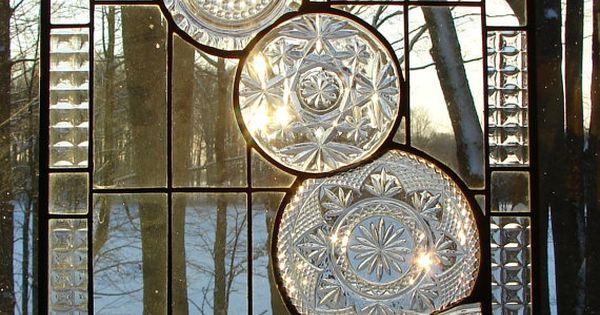 Cascade de cristal panneau vitrail fen tres de devant for Panneau de fenetre