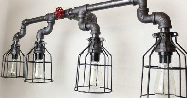 Steampunk clairage industriel edison vintage ampoules - Cache ampoule mural ...