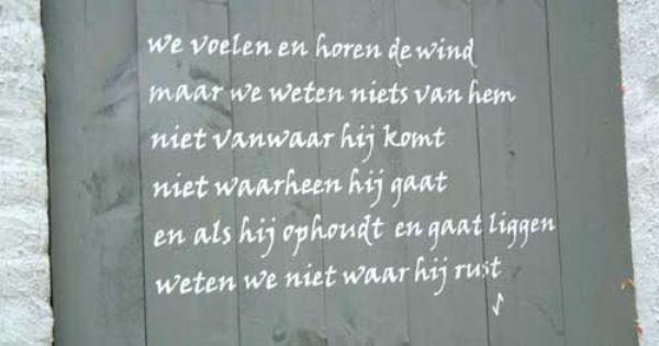 Gedicht van Willem Iven op zijn tuinschutting ...