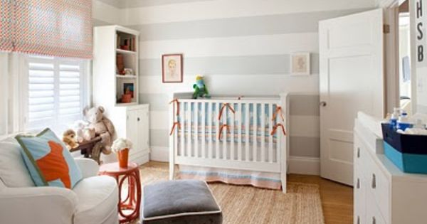Grey Stripes for Baby Boy Nursery