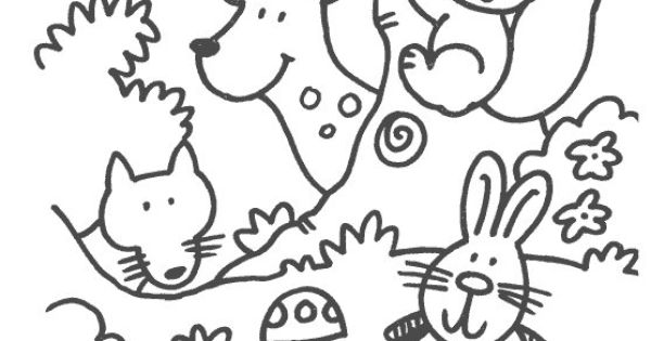 some coloring pages in the theme forest animals for preschoolers pracovn listy pinterest. Black Bedroom Furniture Sets. Home Design Ideas