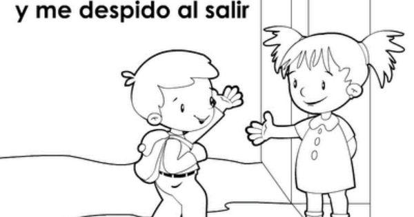 Plastilina Y Lápiz 20 De Noviembre Día De Los Derechos: Colorear Cortesia Y Buenos Modales