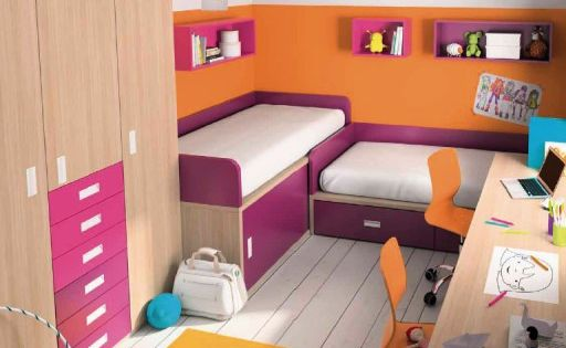 Habitaciones juveniles en espacios peque os dormitorio - Habitaciones juveniles espacios pequenos ...