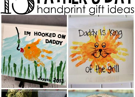 I like the baseball idea... Father's Day Handprint Gift Ideas from Kids