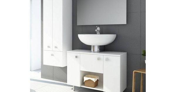 Aquaform Aquaform Waschbeckenunterschrank Sines Weiss Weiss Weiss Badezimmer Badezimmermobel Bathroom Bathroomdesign Schrank Badezimmer Mobel Badschrank