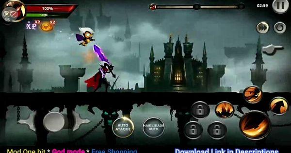 Stickman Legends Shadow Wars Mod Apk V2 4 52 1 Hit Free Shopping Etc N Fighting Games Shadow War