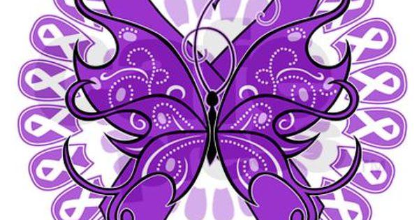 Purple Butterfly Ribbon Necklace By Awarenessjewelry