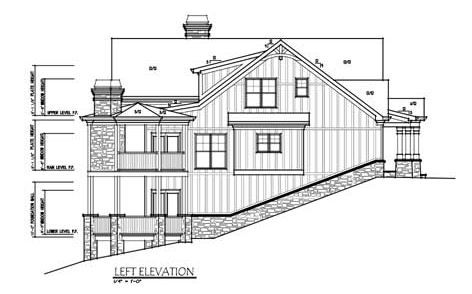 Craftsman Style Mountain House Plan Sloping Lot Lake