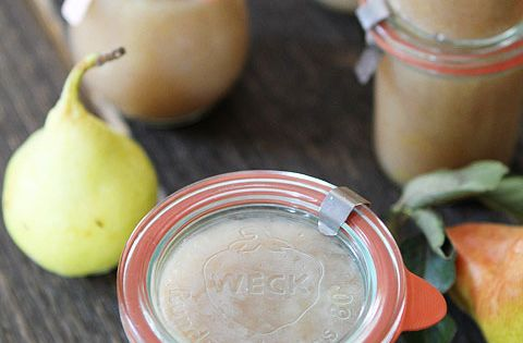 Recipe for Easy Homemade Pear Sauce on twopeasandtheirpod ...