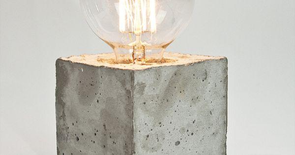 lj lamps alpha tischleuchte aus beton textilkabel. Black Bedroom Furniture Sets. Home Design Ideas