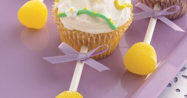 Baby rattle cupcakes baby shower idea