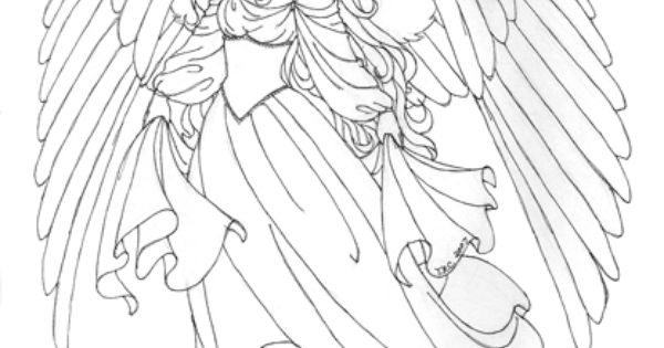 beautiful angel coloring pages beautiful angel pictures craft project ideas pinterest beautiful colouring and angel pictures - Coloring Pages Beautiful Angels