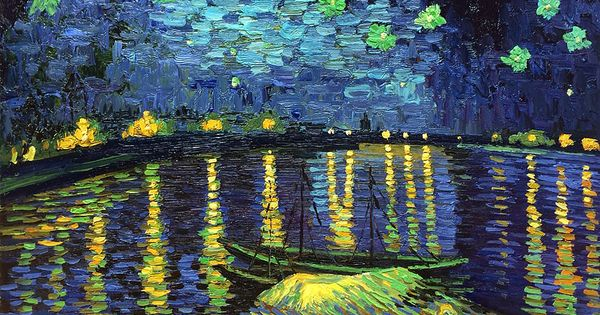 a critique of a starry night over the rhone an oil on canvas by vincent van gogh Pre-framed oil painting reproduction art size: 24 x 20 inches (60 x 50 cm) framed size: 335 x 295 inches (8509 x 7493 cm) frame: museum quality solid yes we can ship your painting replica of starry night over the rhone by vincent van gogh, framed, vincent van gogh on canvas with gallery wrap or right frame.