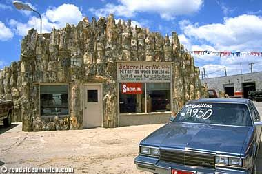 Lamar Colorado S Petrified Wood Building Started Out As A Gas