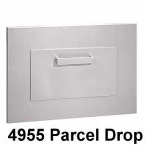 Through Wall 230 Overall 21 W X 16 1 2 H X 8 1 2 D Rough Opening 14 1 2 W X 13 5 8 H Drop Opening 1 Lockable Mailbox Mailbox Commercial Mailboxes