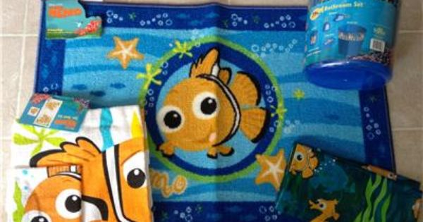 Finding Nemo Shower Curtain Finding Nemo 11 Pc Set Shower Curtain Towels Rug Wastebasket Soap Bathroom Kids Best Baby Shower Gifts Baby Shower Gifts