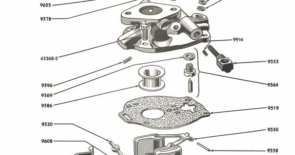 Carburetor Parts For Ford 8n Tractors 1947 1952 Ford Tractor Parts Ford Tractors Tractors