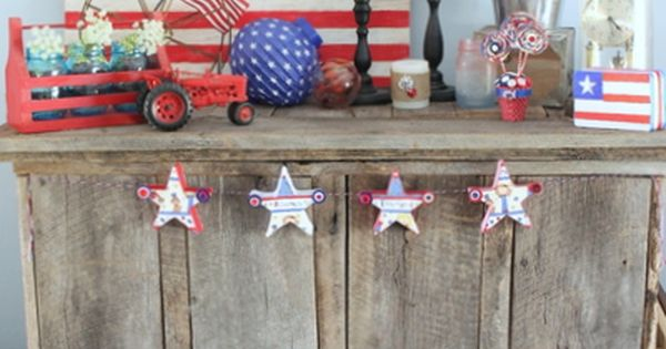 home decor my summer mantel wooden flag country chic