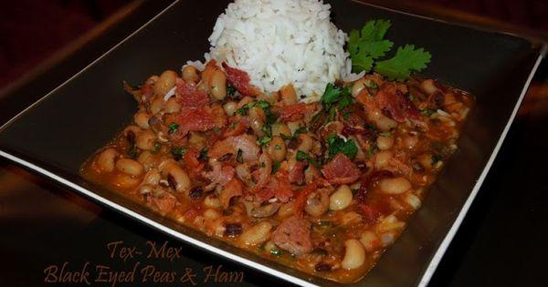 Tex-Mex Black Eyed Peas And Ham | Recipe | Black Eyed Pea, Kitchen ...