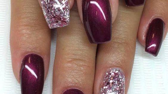 Shining Burgundy Gel Nails Nail♡ Art Pinterest Gel Nails Burgundy And Nails