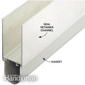 Slide A Section Of Retainer And Gasket Onto The Bottom Edge Of The Garage Door Tilt It Until The Rubber Gasket To Garage Doors Garage Decor Garage Floor Paint