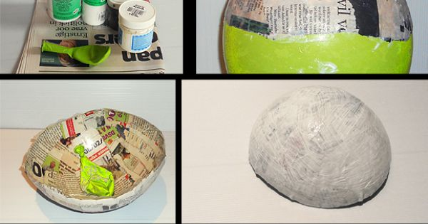 DIY paper bowl. Paper mache is rad! Why did we stop doing