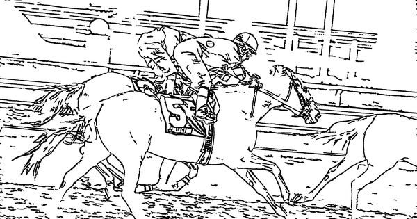 horse race coloring pages - photo#32
