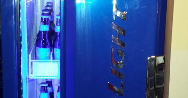 Check Out Our Sub Zero Bud Light Beer Fridge It S Pretty