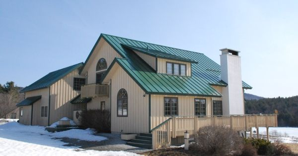 Drexel Metals Forest Green Metal Roof : Metal Roofs : Pinterest : Metal roof, Metals and House ...