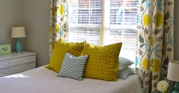 Yellow Gray And Teal To Make Our House A Home Pinterest Teal Cake Cute Curtains And