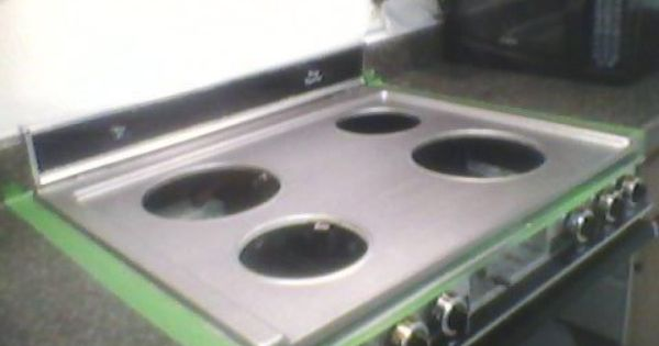 Diy Projects Painted Stove Top Kitchen House Cleaning