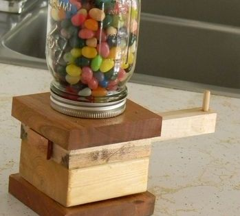 The Awesomest Jelly Bean Dispenser Ever | Jelly beans, Woodworking and Beans
