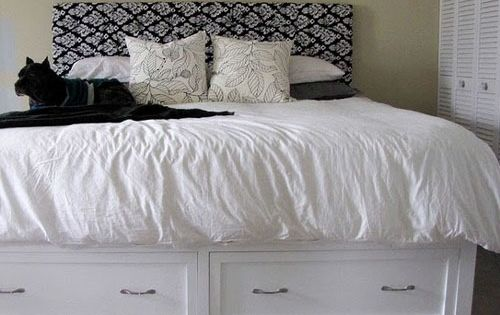 DIY King Storage Bed: Knockoff Pottery Barn Stratton With Drawers
