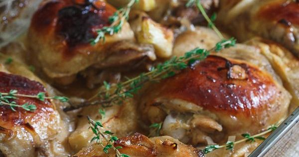Check out Maple Ginger Chicken Thighs. It's so easy to ...