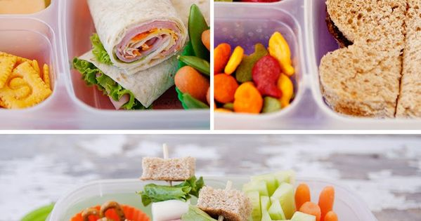 Simple and Healthy School Lunch Ideas - I won't be cutting sandwiches/fruit in to cute shapes, but there are 5 days worth of lunch ideas here that look great. Also like the idea of Jell-O in one compartment. My kids would flip for that. I use the Ziploc 3...
