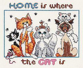 It/'s From The Heart Cat Puppy Cross My Heart Cross Stitch Pattern Leaflet