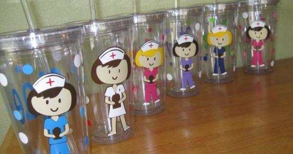 Acrylic tumblers, Tumblers and Nurses on Pinterest