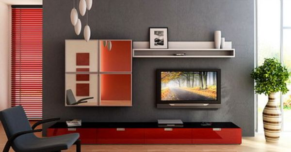 Elegant TV Stand Furniture in Small Modern Living Room Interior ...