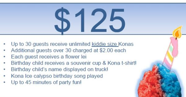 Kona Ice Truck Kids Party Ideas Pinterest Ice Truck